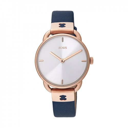 Reloj Tous Let Leather Dorado Correa Azul