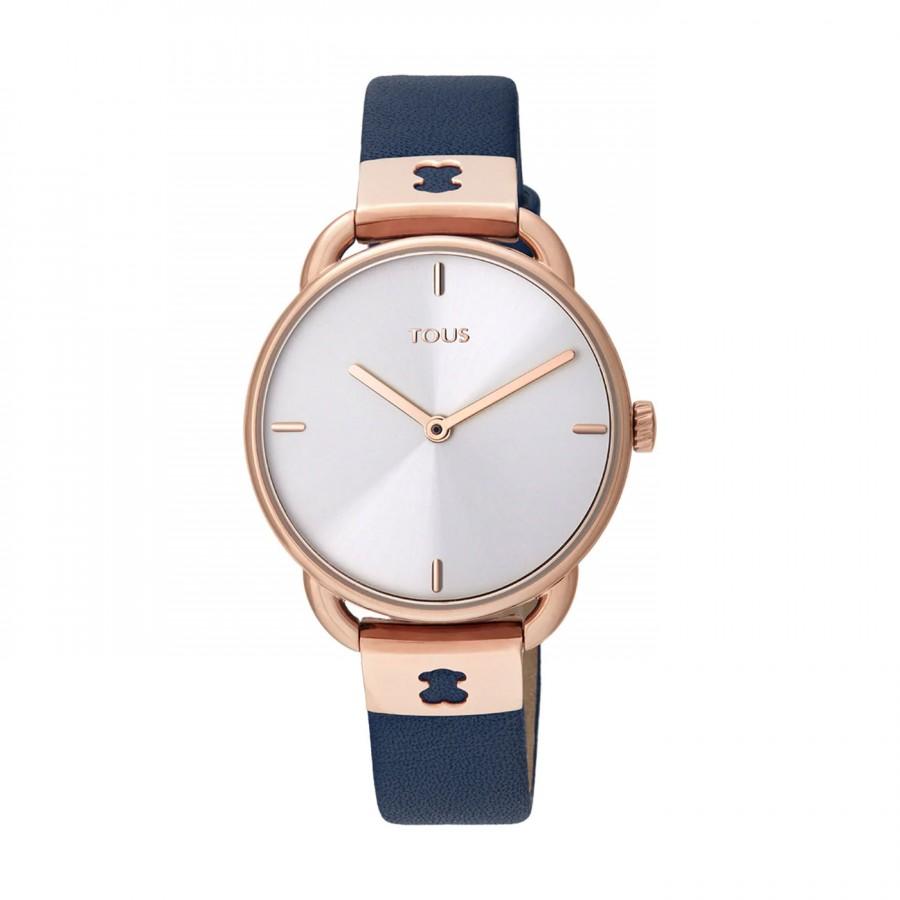 Reloj Tous Let Leather Dorado Correa Piel Azul