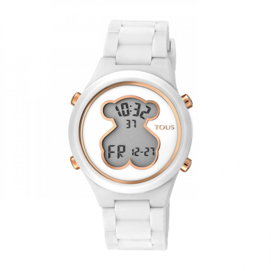 Reloj Tous D-Bear Teen Digital Goma Blanco