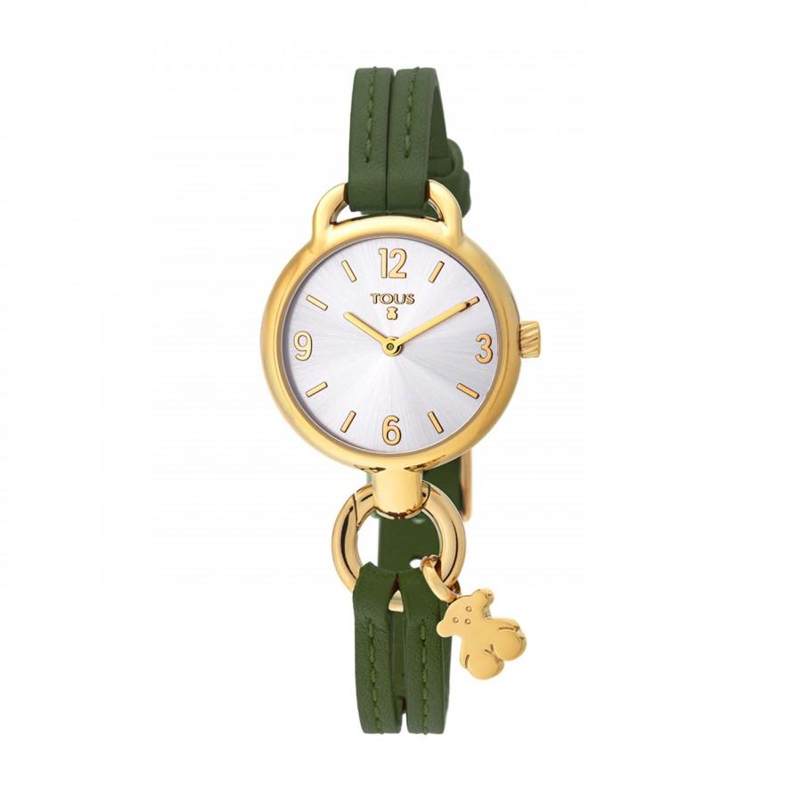 Reloj Tous Hold Dorado Correa Piel Verde