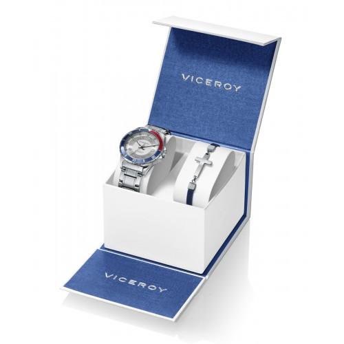Pack Reloj Viceroy Niño con Pulsera de Acero
