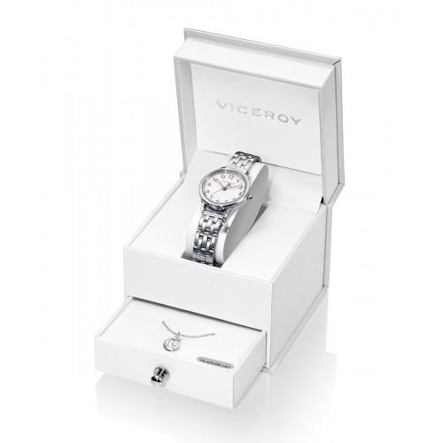 Estuche Reloj Viceroy Niña con Colgante de Plata