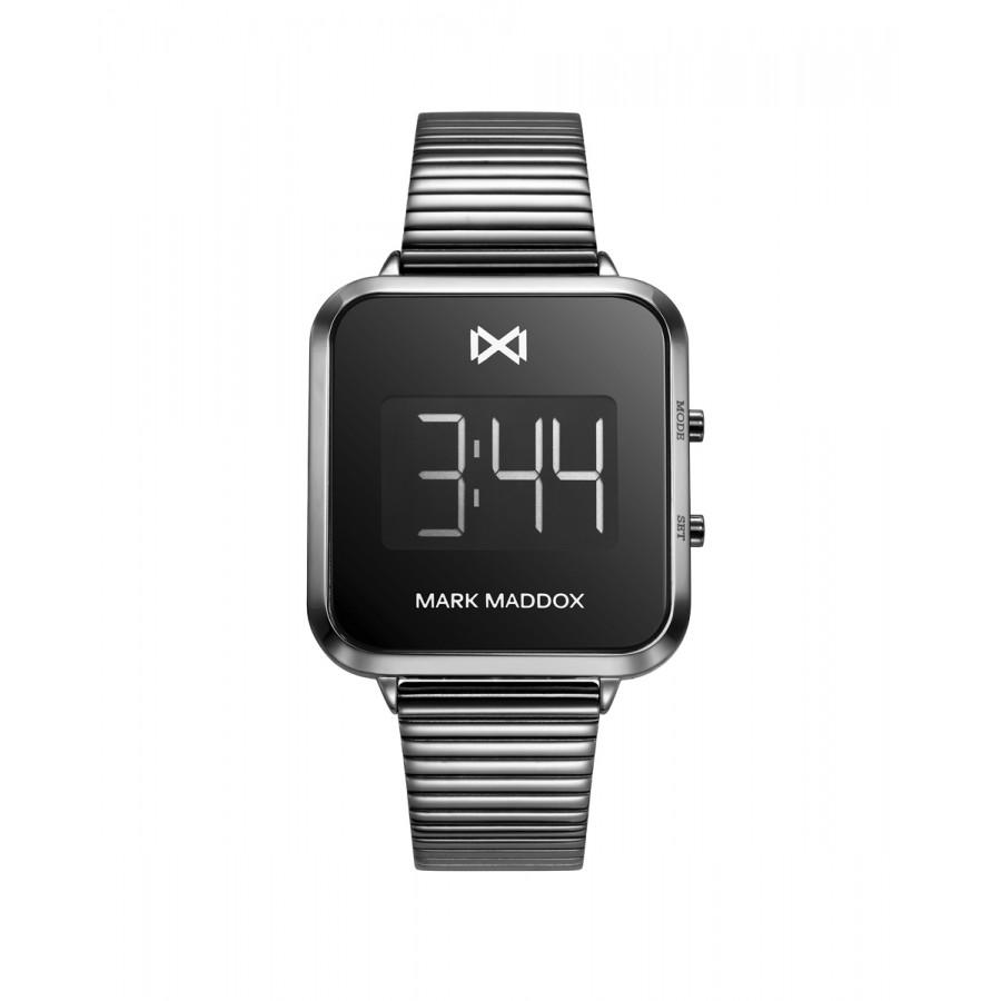 Reloj para chica Mark Maddox digital gris con brazalete de acero