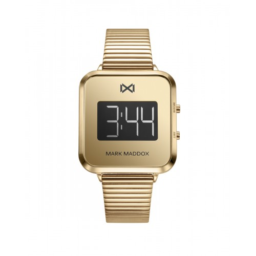 Reloj Mark Maddox Digital Dorado Brazalete Acero