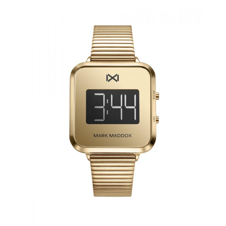 Reloj para chica Mark Maddox digital dorado con brazalete de acero