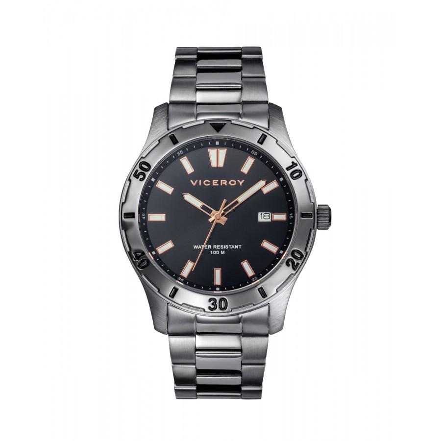 Reloj Viceroy gris deportivo con brazalete de acero