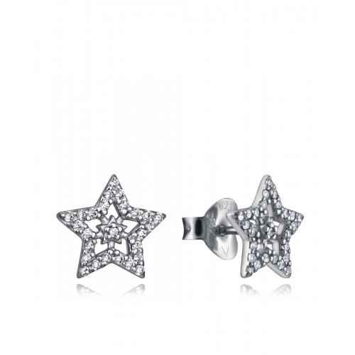 Pendientes Viceroy de plata con Estrellas