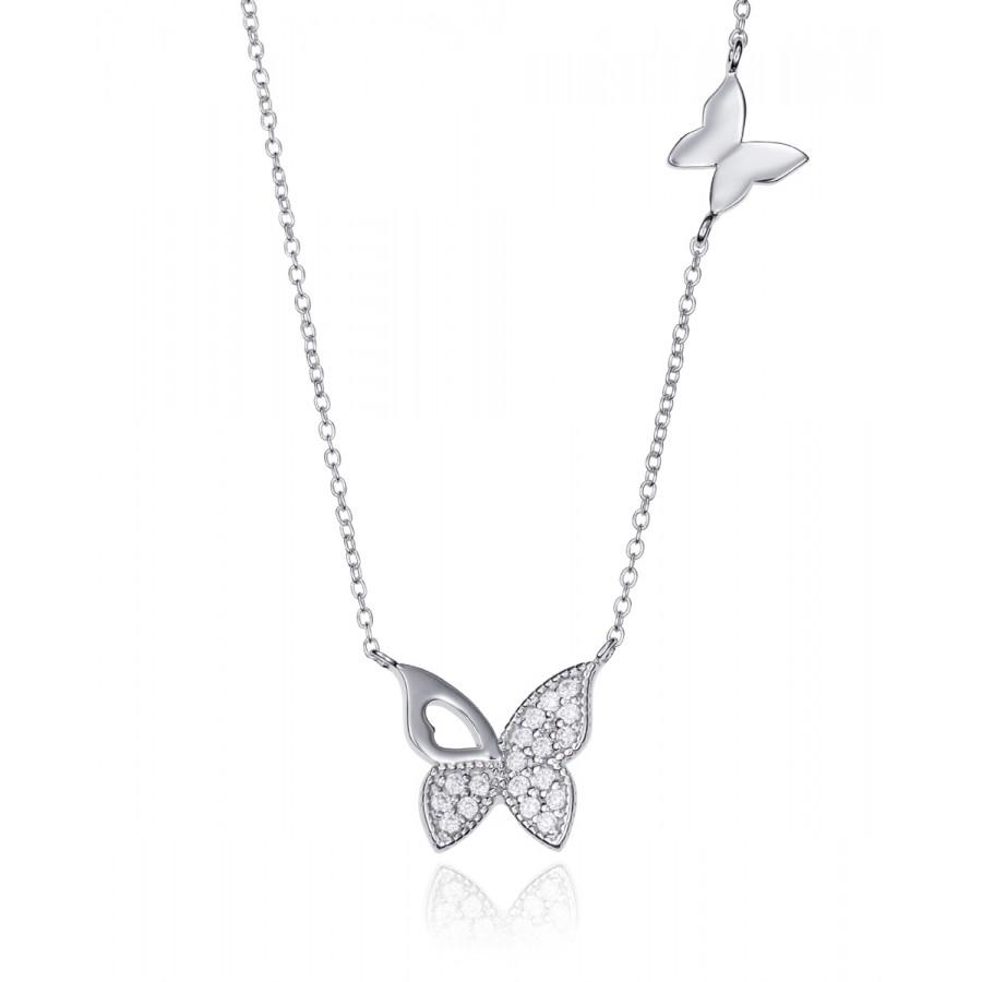 Colgante Viceroy de plata Mariposa Circonitas
