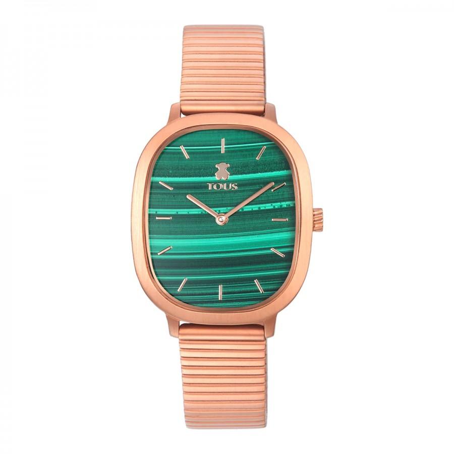 Reloj Tous Heritage Cuadrado Dorado Malaquita Verde
