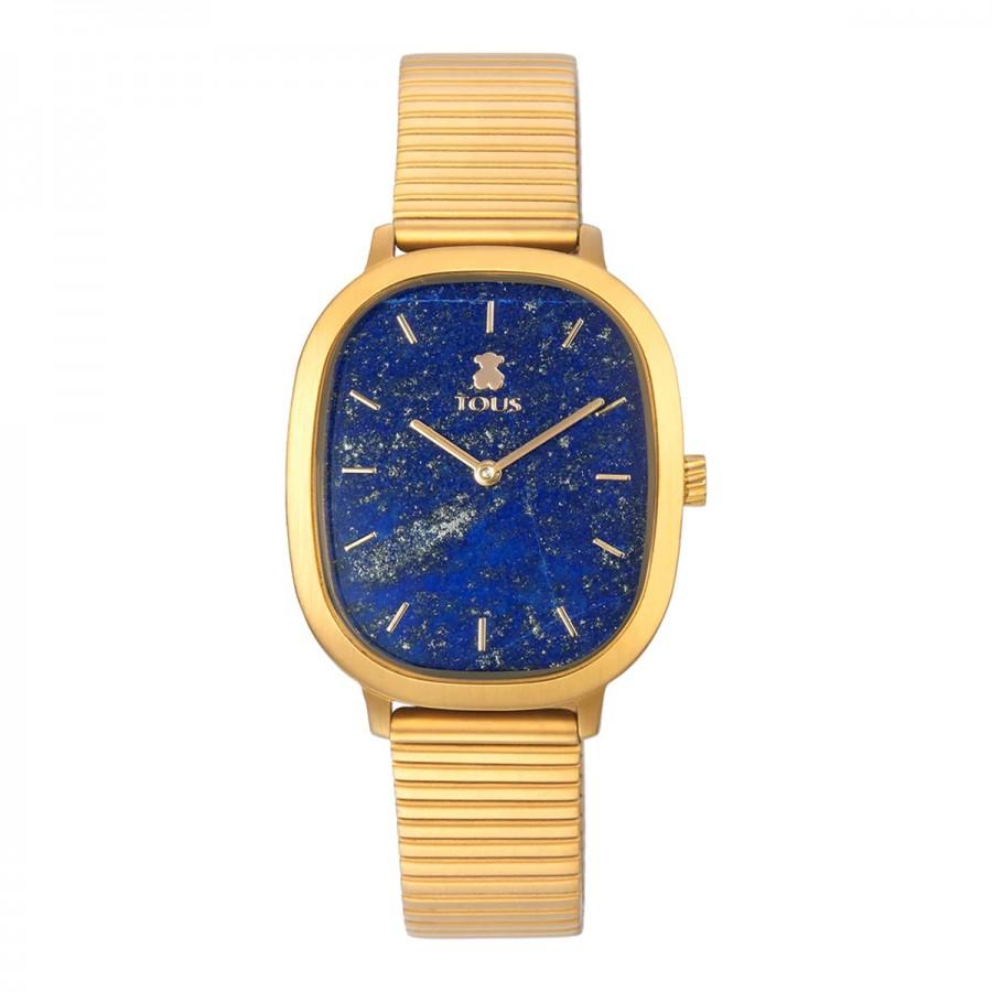 Reloj Tous Heritage Cuadrado Dorado Lapislazuli Azul
