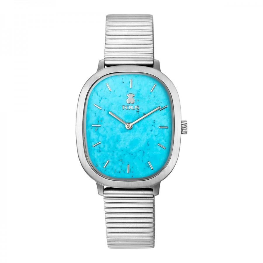 Reloj Tous Heritage Cuadrado Acero Turquesa Azul