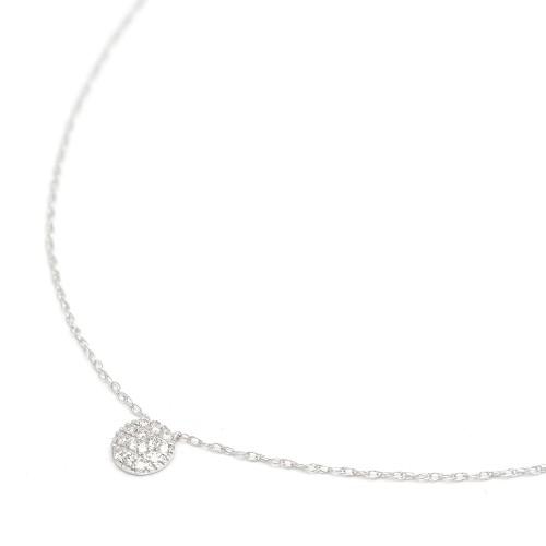 Gargantilla Oro Blanco Círculo Diamantes