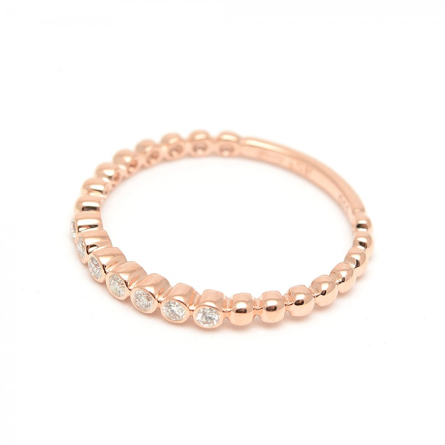 Sortija Oro Rosa Diamantes