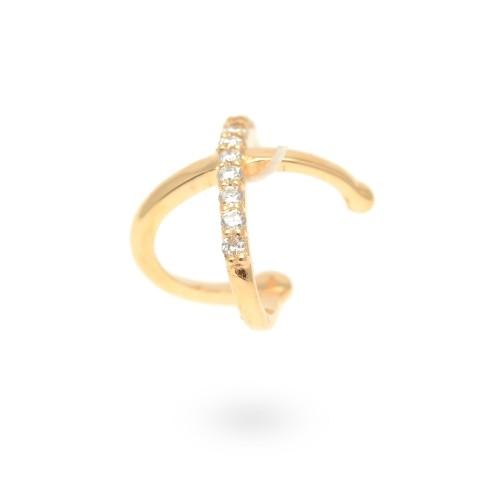 Pendiente Oro Chica LeCarré Ear Cuff Diamantes