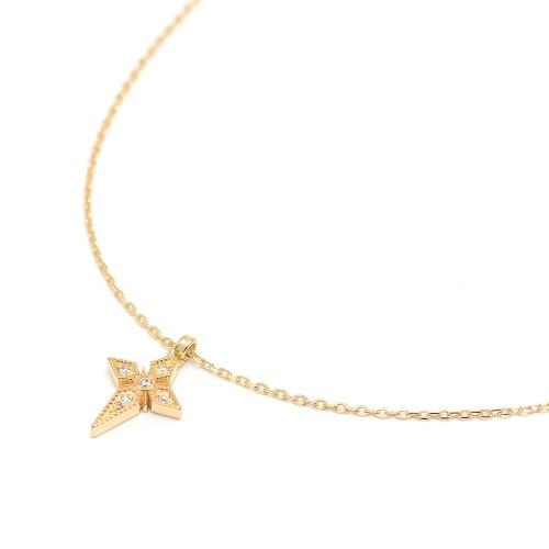 Gargantilla Oro LeCarré Cruz Diamantes