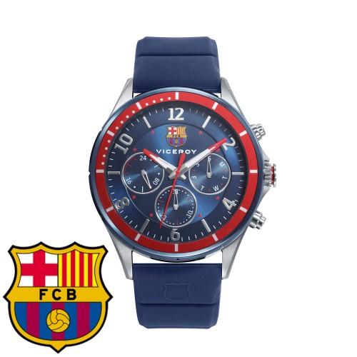 Reloj para chico Viceroy del FC Barcelona con correa azul