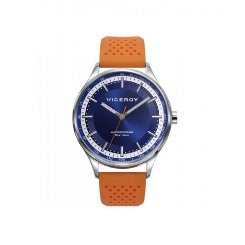 Reloj Viceroy Sumergible Azul Correa Naranja