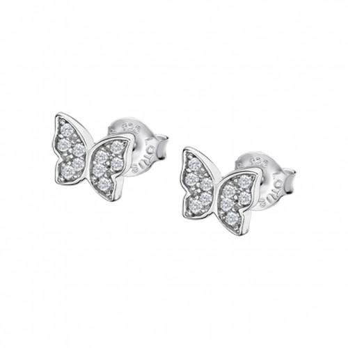 Pendientes Plata Lotus Mariposa Circonitas