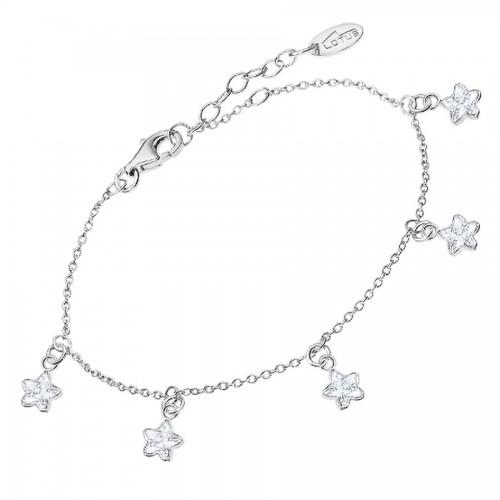 Pulsera Lotus Plata Estrellas