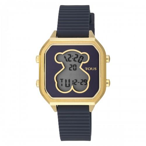 Reloj Tous Bear Dorado Digital Correa Azul