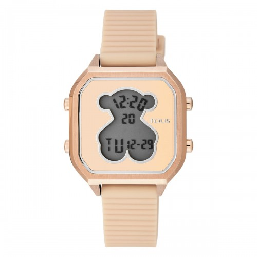 Reloj Tous Bear Dorado Digital Correa Nude