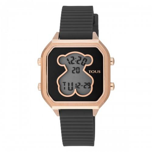 Reloj Tous Bear Dorado Digital Correa Negra