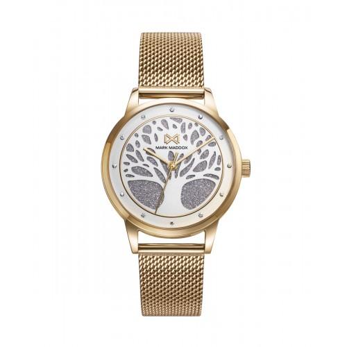 Reloj para chica Mark Maddox dorado con el Árbol de la Vida