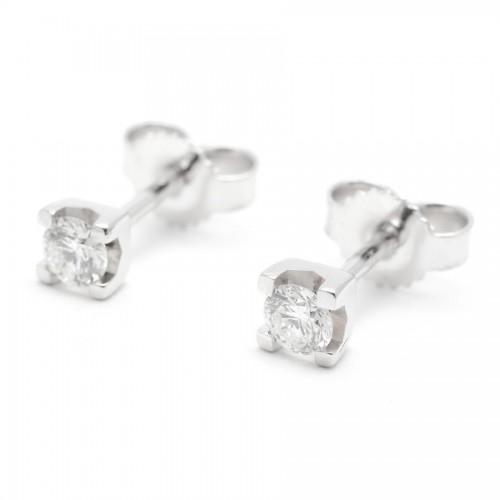 Pendientes Diamantes Dormilón Oro Blanco