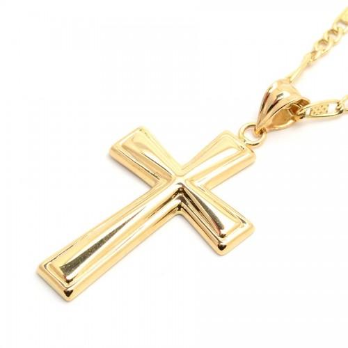 Cruz Oro Biselada