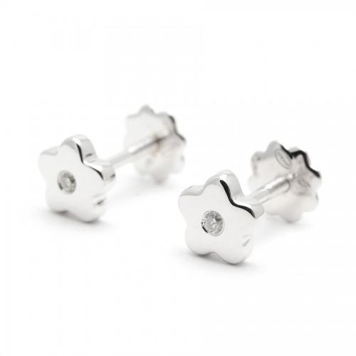 Pendientes Diamantes Oro Blanco Estrella