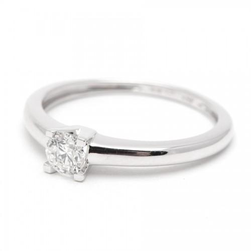 Sortija Diamante Oro Blanco